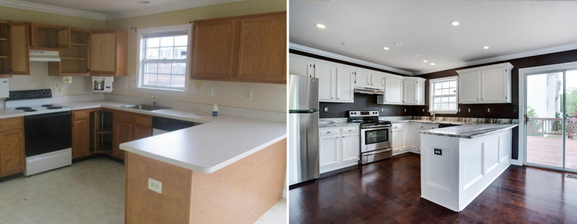Dramatic Kitchen Transformation adding touches of custom detail