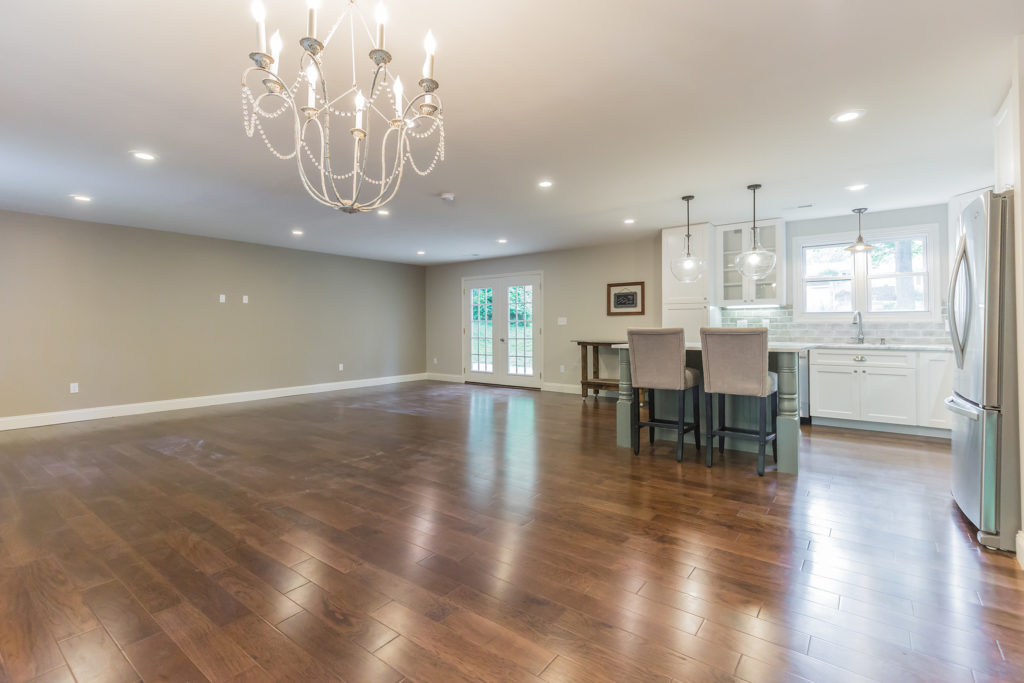 AFTER: Completely Opened Up Main Floor Plan with True Hardwood Floors