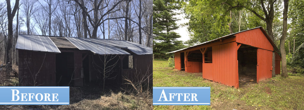 5331 Cove beforeAfter 4 barn Calvert County Realtor Real Estate Saint Leonard